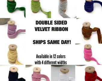 Double sided Velvet ribbon, double-faced velvet, velvet ribbon