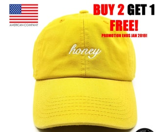 533a722dac4 AcademyFits Honey Embroidered Classic Polo Style Baseball Cap Cotton Made  Adjustable Fits Men Women Unisex Low Profile Dad Hat Unconstructed