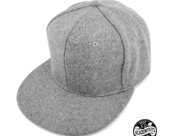 11781a575bf0b AcademyFits Quality 6 Panel High Crown Warm Gray Wool Strapback Adjustable  Fits Men Women Unisex Constructed Baseball Blank Classic Caps