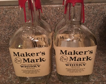 Makers Mark Bow Tie up-cycled from Makers Mark bourbon bottle labels- Made to Order wedding, prom, derby or special event men's bow tie