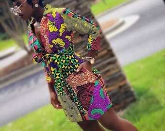3ad720fd169 Lashe African shirt dress   African short dress   Ankara shirt dress    African print dress for women