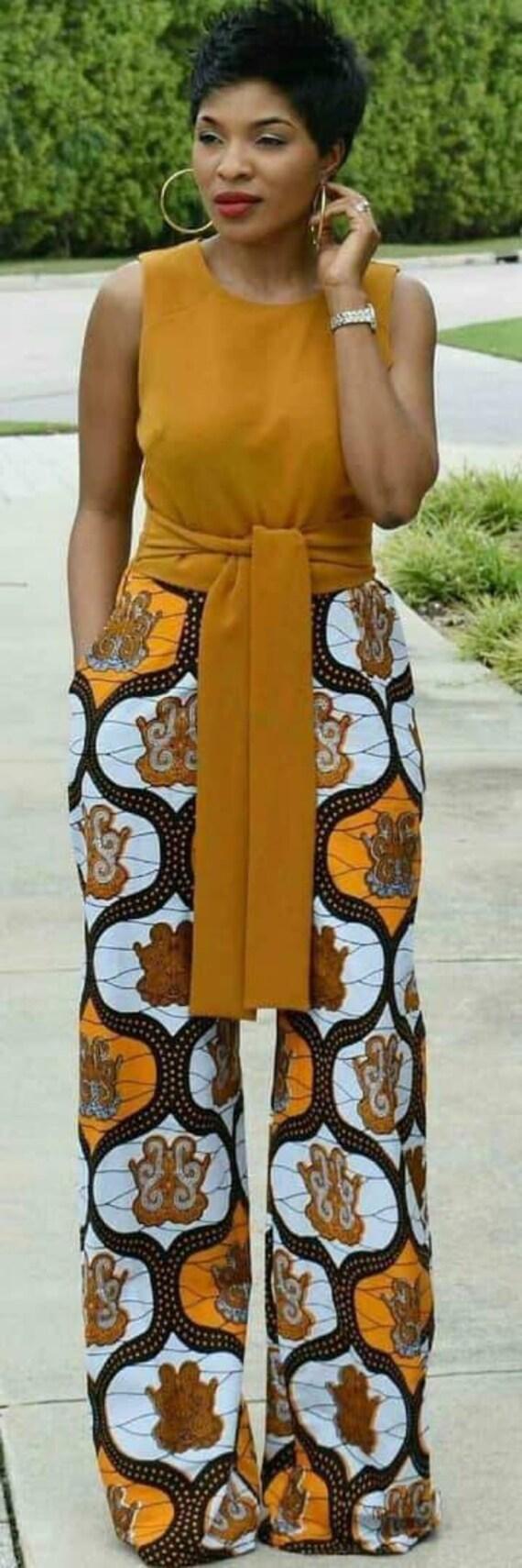 Peace African pant  Ankara pant  Women/'s pant