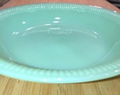 Vintage Jadeite Fire King Jane Ray 7 1 2 quot Shallow Soup Salad Bowl