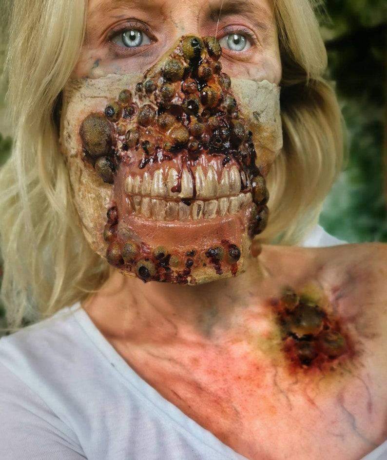 Zombie Halloween Mask,realistic masks latex Halloween mask,zombie scab scary masks,virus zombie,walking dead mask,cosplay mask,gory masks