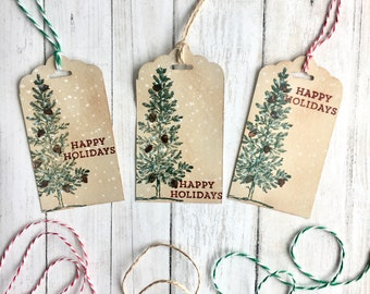 rustic gift tags etsy