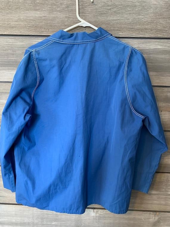 Vintage Retro Shirt | 60's Sacony Blue Shirt | RE… - image 5