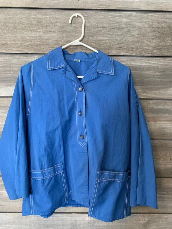Vintage Retro Shirt | 60's Sacony Blue Shirt | RE… - image 2