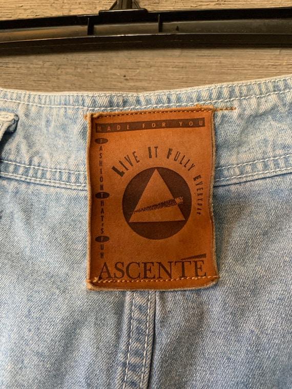 Vintage Jean Denim Skirt | Pants with Skirt Overl… - image 5