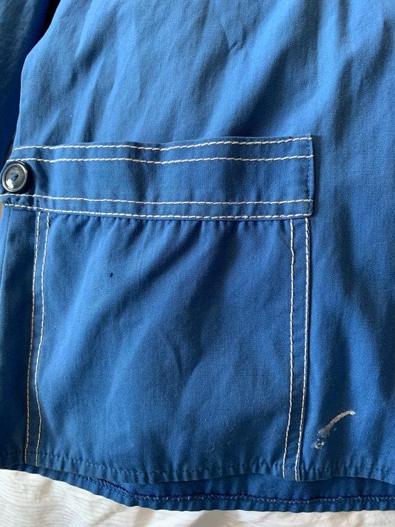 Vintage Retro Shirt | 60's Sacony Blue Shirt | RE… - image 7