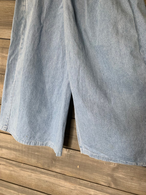 Vintage Jean Denim Skirt | Pants with Skirt Overl… - image 2