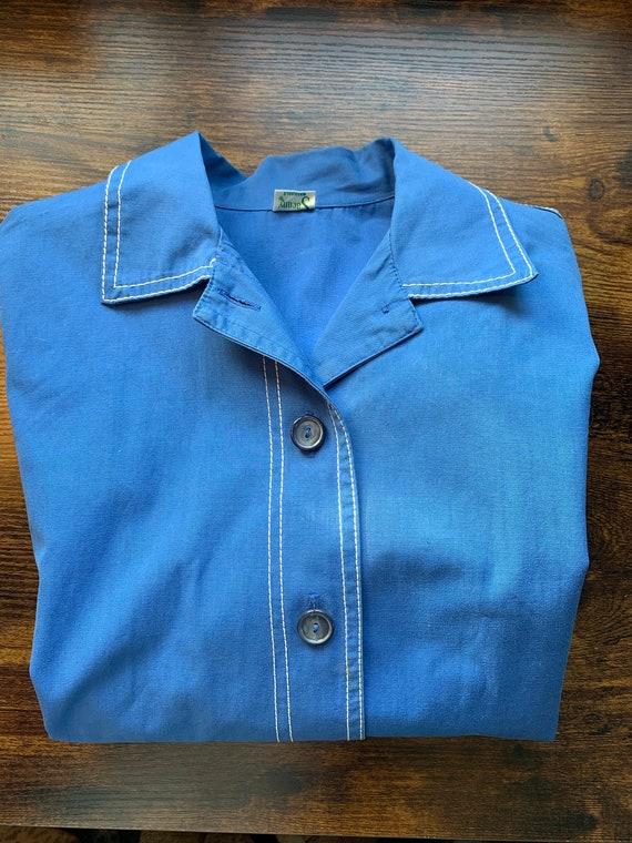Vintage Retro Shirt | 60's Sacony Blue Shirt | RE… - image 1