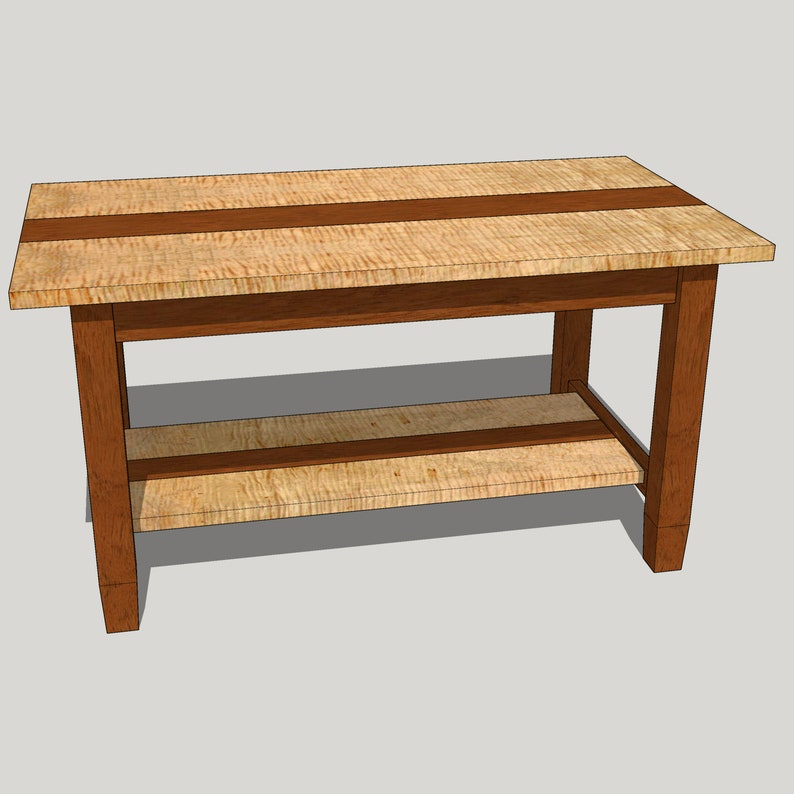 Contemporary Coffee Table Woodworking Plan and Guide  Dowel image 0