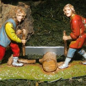 Nativity Scene Villagers Figurine Landi Presepio Figuras para Pesebre Nacimiento