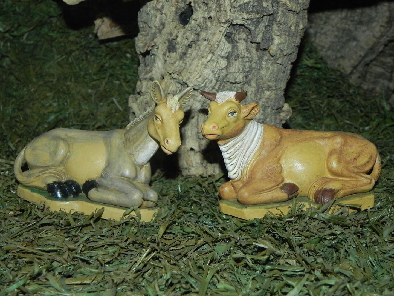 """Donkey Figurine for 3.5/"""" Nativity Scene Sets Presepio Animal Pesebre Burro Italy"""