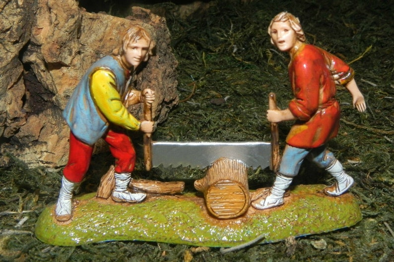 "Christmas Nativity Scene Figurine Landi Presepio Pesebre Figura 2-1//4/""H"