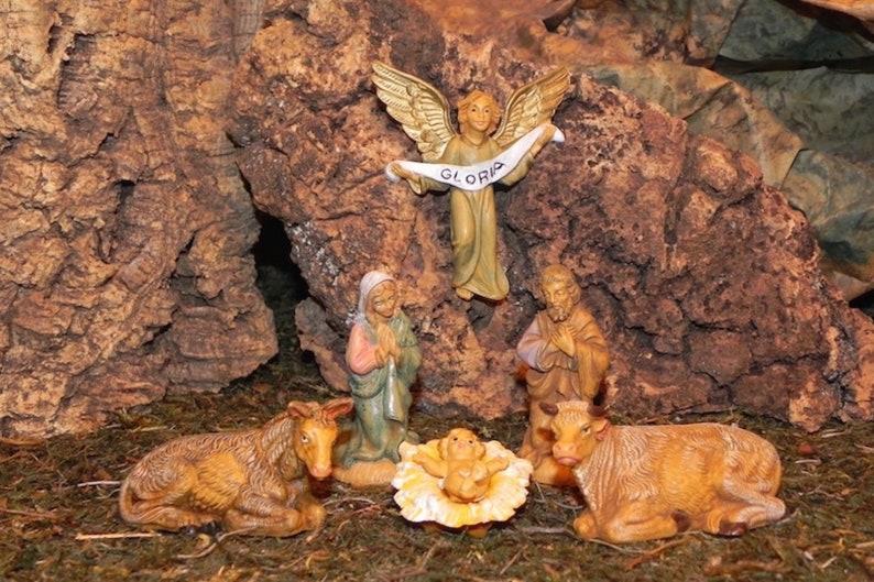 "Landi Nativity Scene Set 6 Pieces Figurines 3-3//16/"" H Presepio Pesebre Creche"