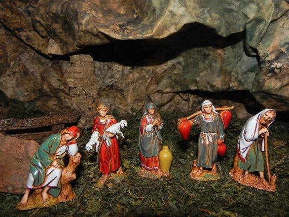 Wise Men Nativity King Figurines Landi Presepio Reyes para Pesebre Nacimientos