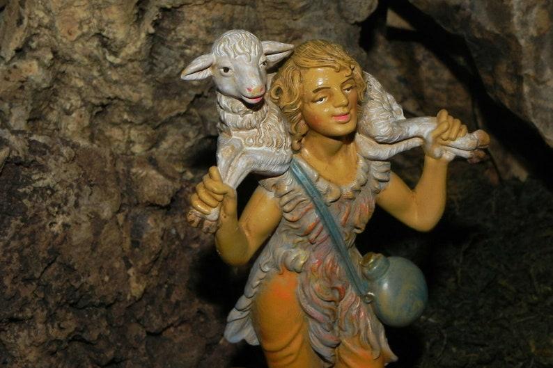 "Pellegrini Nativity Scene Figurine  4-7//8/"" H Presepio Pesebre Pastor"