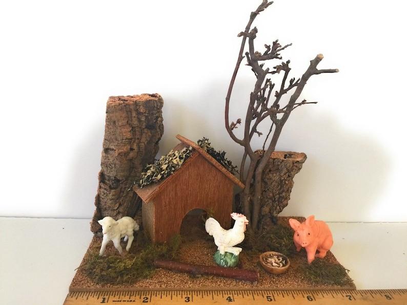Safari Goat Set//3 Figurines Nativity Village Presepio Cabras Pesebre Nacimientos