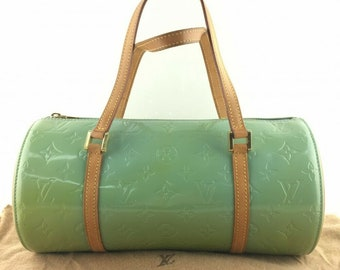 7cca25bc5b7e2 LOUIS VUITTON Green Monogram Vernis Bedford Bag with dust bag