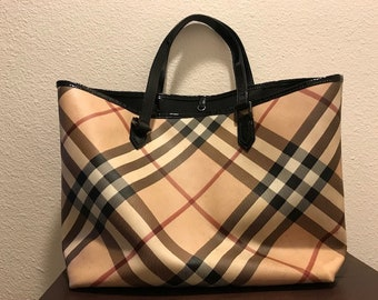 54bd324b8e39 AUTHENTIC BURBERRY Nova Check Tote Handbag