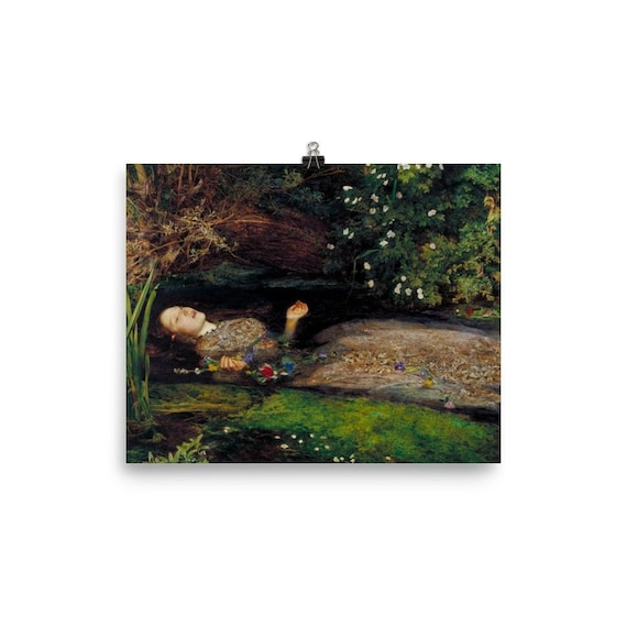 John Everett Millais Museum Art Poster Ophelia Art Canvas Print