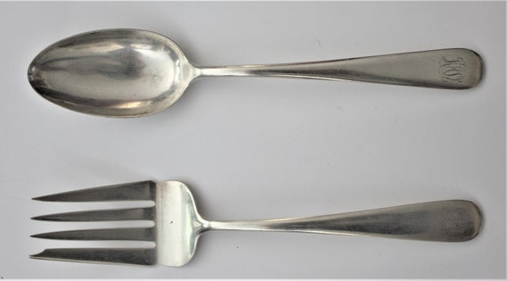 "Sterling Kirk /& Son OLD MARYLAND ENGRAVED SALAD FORK  6 1//2/"" No Mono /& mono F"
