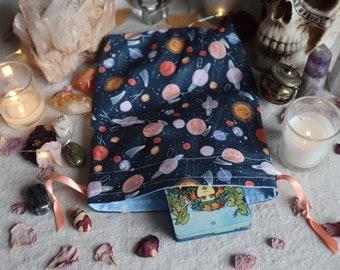 Large Planets Tarot Bag Oracle Bag Rune Bag Fully Lined Handmade