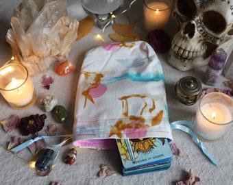 Small Desert Animals Tarot Bag Oracle Bag Rune Bag Fully Lined Handmade