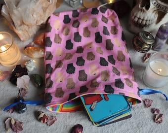 Large Solidarity Tarot Bag Oracle Bag Rune Bag Fully Lined Handmade