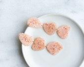 Shimmery Organic Dangle Earrings