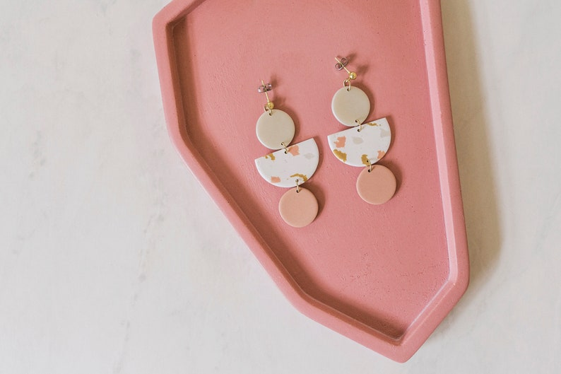A Beautiful Mess x Etsy Terrazzo Earrings Polymer Clay image 0