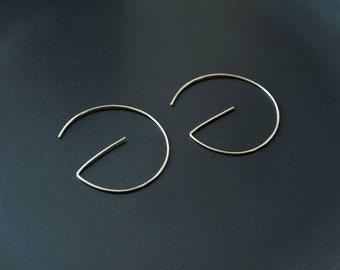 Open Sterling Silver Hoops, Modern Hoops, Hoop Earrings, Contemporary Jewelry