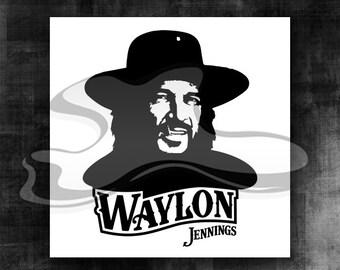 5790eca7bf7ec Waylon Jennings Vector SVG Artwork