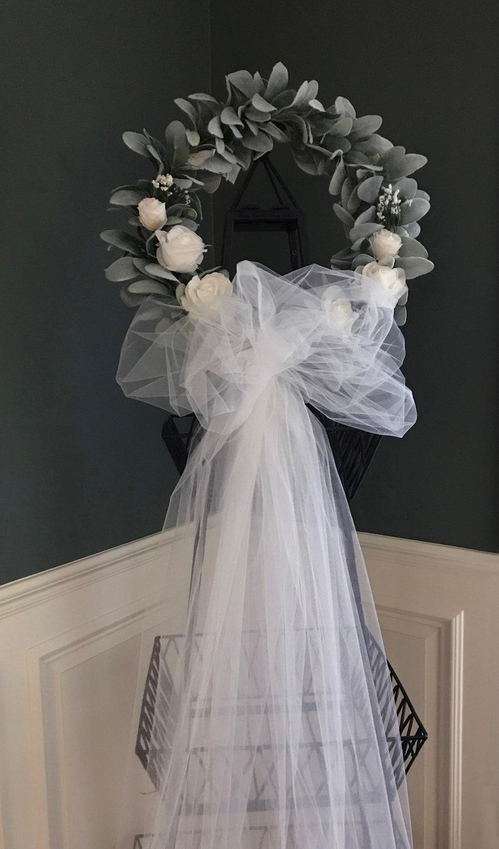 Bridal Shower Door Wreath Mommykimstyle Lams Ear Wreath,Wedding Deco,Rustic Wedding 19 Wedding Wreath,Bridal Shower Wreath