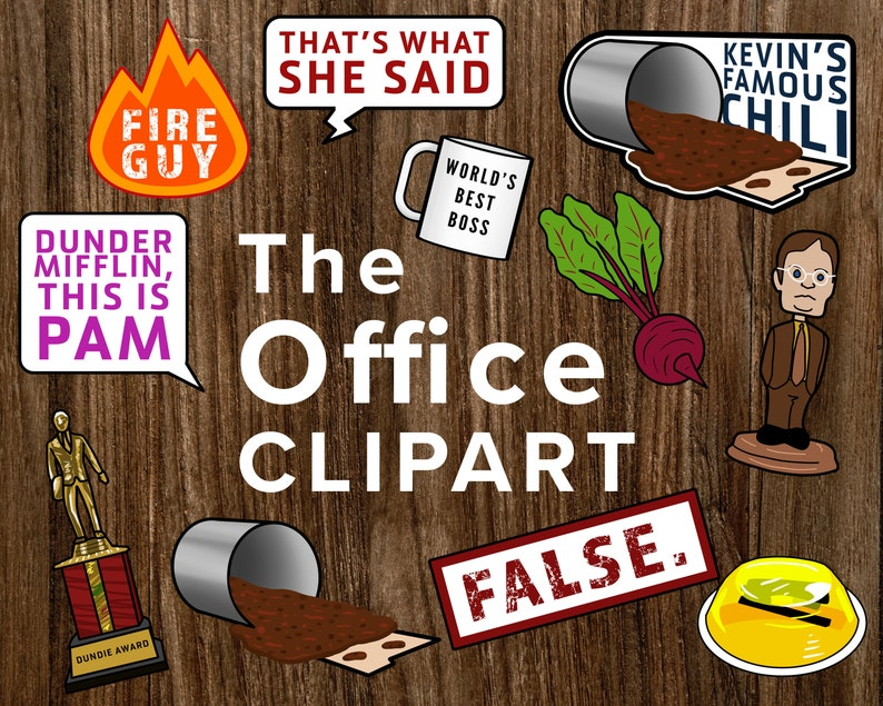 Brilliant The Office Inspired Clipart Digital Download Dunder Mifflin Michael Scott Cartoons Download Printable Kevins Famous Chili Clip Art Download Free Architecture Designs Scobabritishbridgeorg