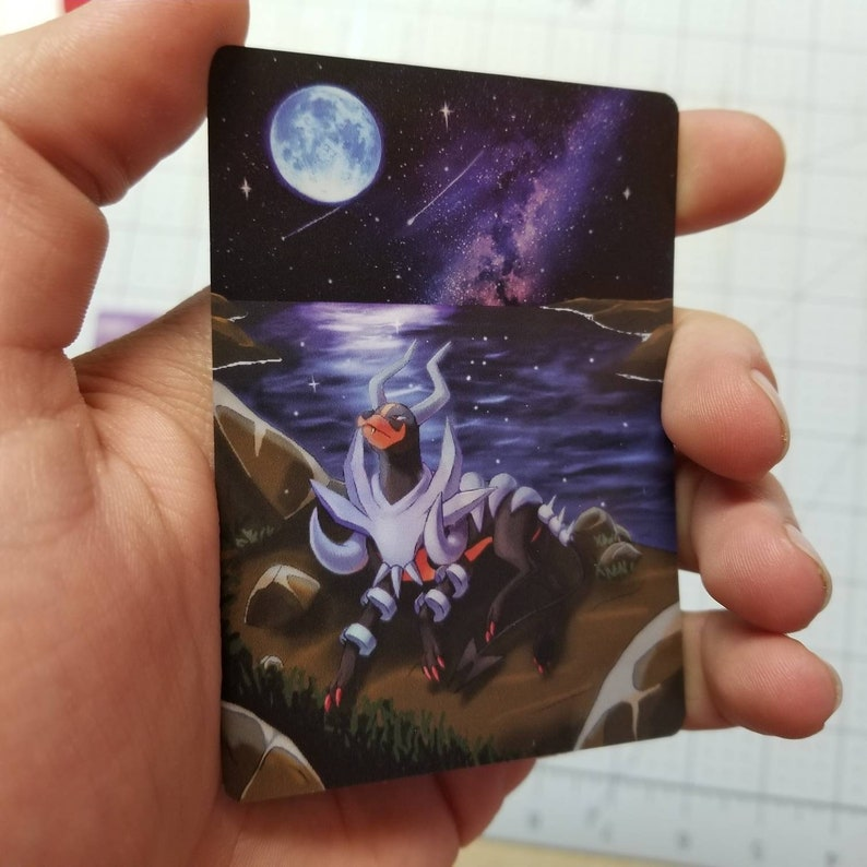 Mega Houndoom Extended Art Full Art Rainbow Holo Custom Orica Pokemon Card