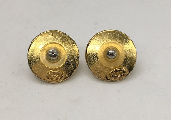 Vintage Trifari Faux Pearl Earrings - image 3