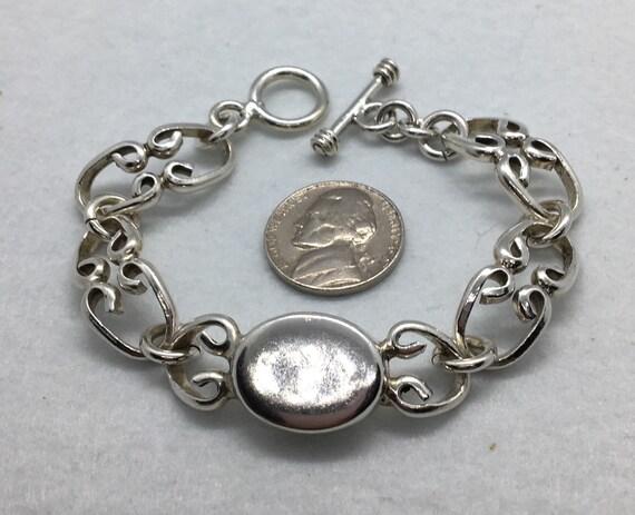 Vintage Jewelry sterling silver chunky bracelet