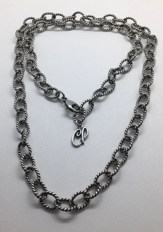 Carolyn Pollack Sterling rope chain chunky necklac