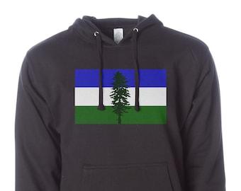 Cascadia Hoodie, Pacific Northwest Hoodie, Cascadia Flag, Pullover Hoodie, PNW Hoodie