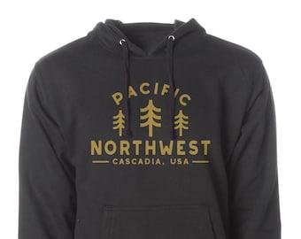 PNW Hoodie, Pacific Northwest Hoodie, Camping Hoodie, Hiking Hoodie, Adventure Hoodie