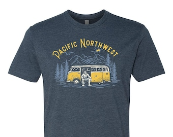 PNW T-shirt, Sasquatch T-shirt, PNW tee, T-shirt, Bigfoot Tee