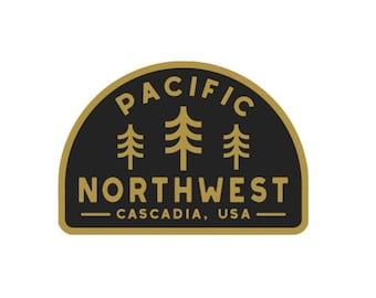 Pacific Northwest Vinyl Sticker- PNW Sticker, Laptop Decal, Water Bottle Sticker