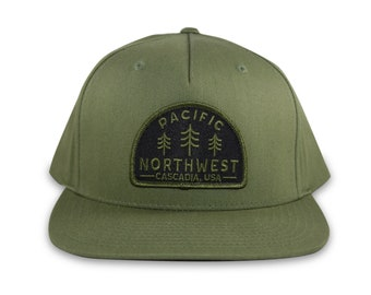 PNW Snapback Hat, Pacific Northwest Hat, The PNW Cap, Tree Hat, Pacific Northwest Cap, PNW Hat