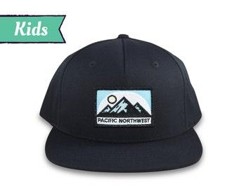 Kid's Hat, Pacific Northwest Hat, Child's Hat, Mountain Hat, Pacific Northwest Cap, PNW Hat