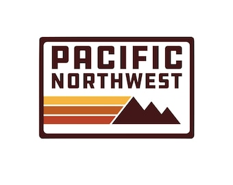 Northwest Retro Vinyl Sticker- PNW Sticker, Laptop Decal, Water Bottle Sticker
