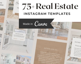 Real Estate Canva Template Bundle for Instagram   IG Post Templates for Realtors & Home Sales   Social Media for Real Estate Professionals