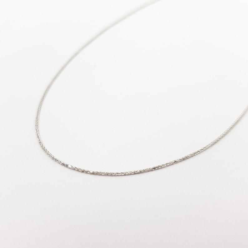 0.75 mm thick Beautiful 16/'/' Classic 14K White Gold Thin Chain