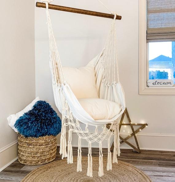 Hanging Chair Hammock Chair Macrame Swing Chair Hanging Etsy